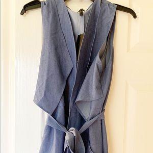 BCBG New with Tags sleeveless wrap dress